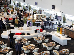 Guests enjoying Formula One Paddock Club
