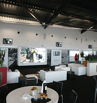 Guests enjoying the Formula One Paddock Club experience in the Silverstone Wing