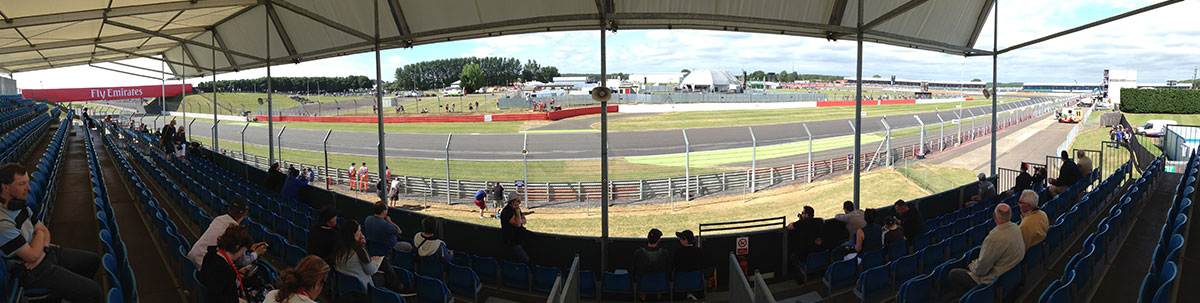 Wellington Straight grandstand panorama